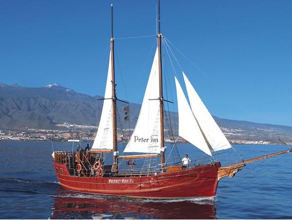 Excursión en Barco Peter Pan con bebidas + avistamiento de ballenas y delfines