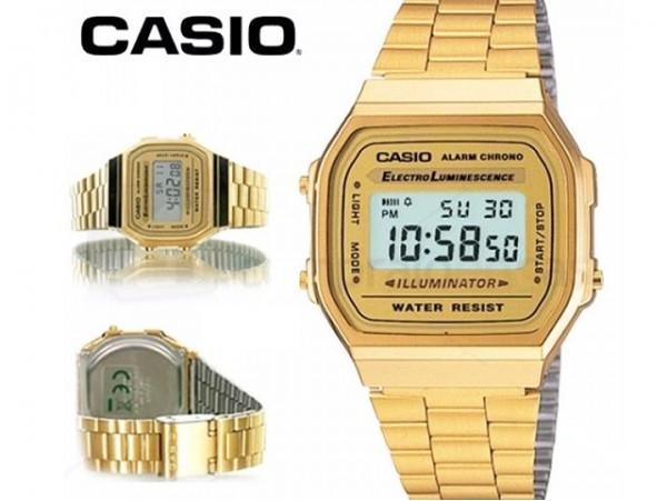 Reloj dorado Casio A168G