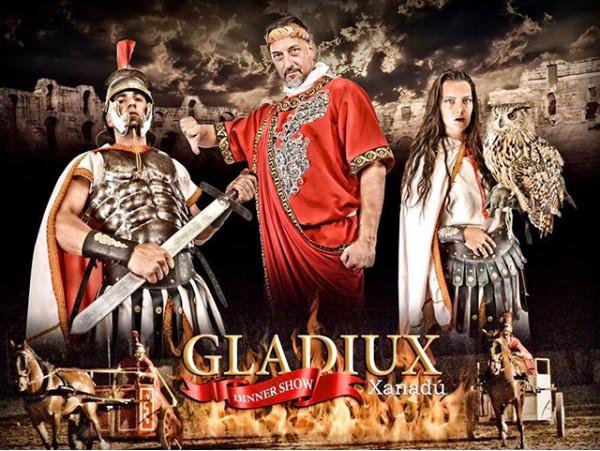 Entradas para 2 al espectáculo 'Gladiux' + cena con barra libre de bebidas