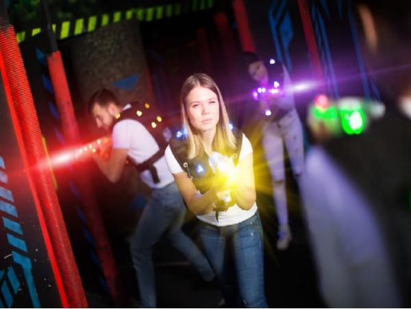 Juego para 2 con pistolas de Laser Tag