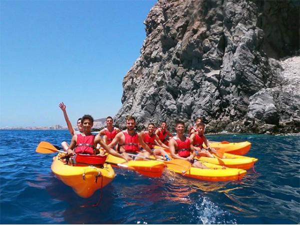 Ruta para 2 en kayak + snorkel en el Palm-Mar