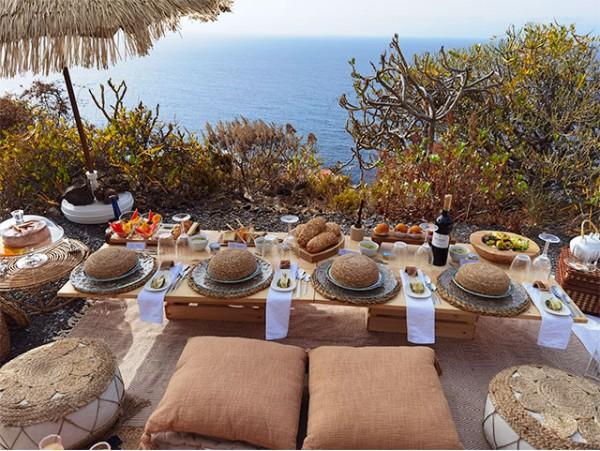 Menú picnic para 2 al aire libre con vistas al mar o al monte